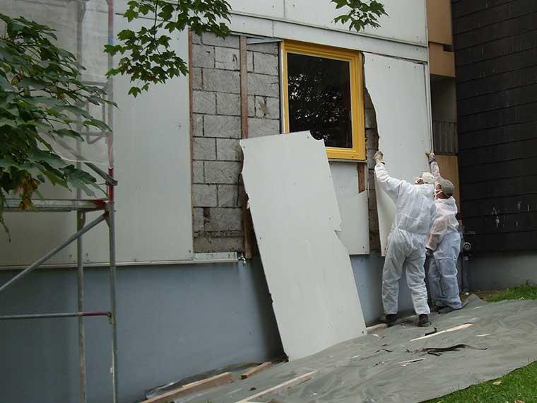 Asbestbau, Abbruch und Entsorgung